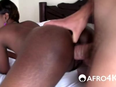 African Babe Gives Head And Gets Hairy Pussy Filled