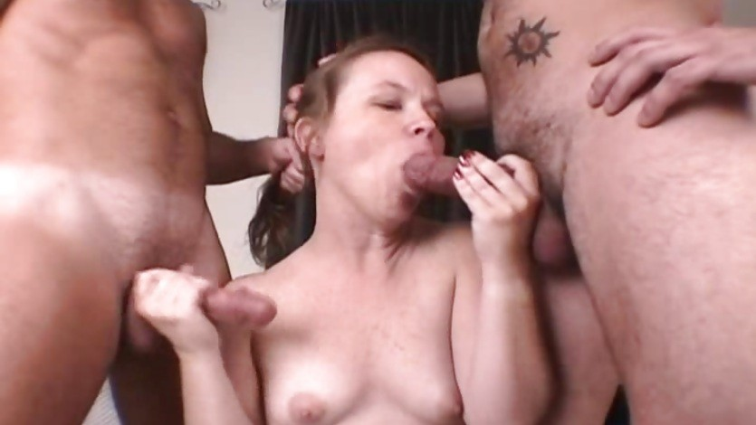 Blowjob and handjob for a blonde babe