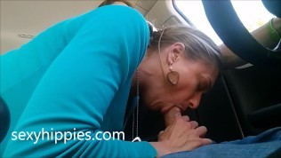 Hippie Roadhead with Massive Orgasm